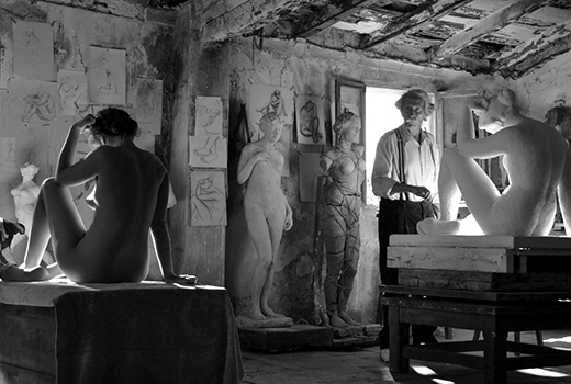 Das Mädchen und der Künstler Szene 2