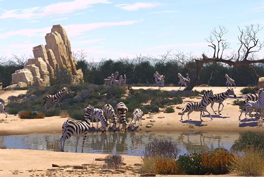 Khumba – Das Zebra ohne Streifen am Popo Szene 1
