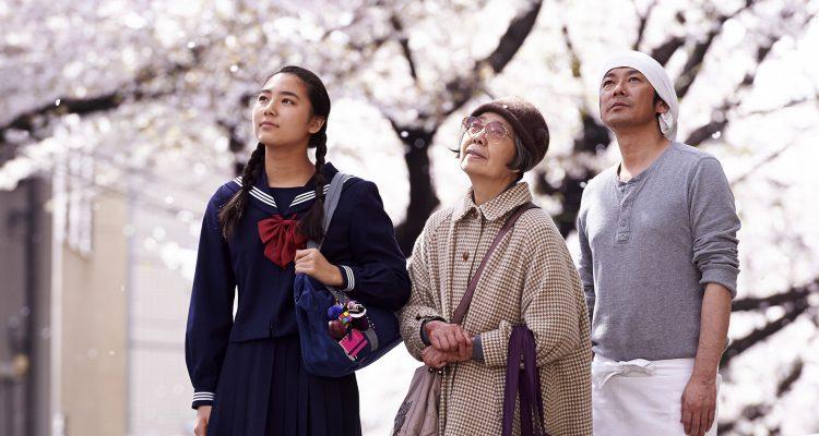 Kirschblüten und rote Bohnen