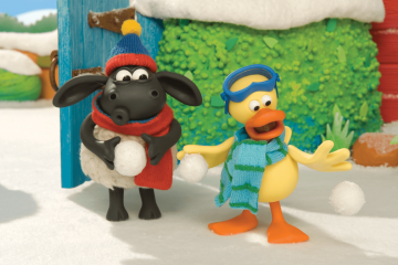 Timmy das Schaefchen Der Schneeball