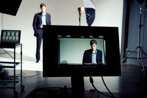 Model on Video Screen