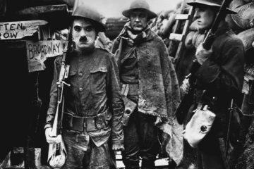 Gewehr über Shoulder Arms Charlie Chaplin